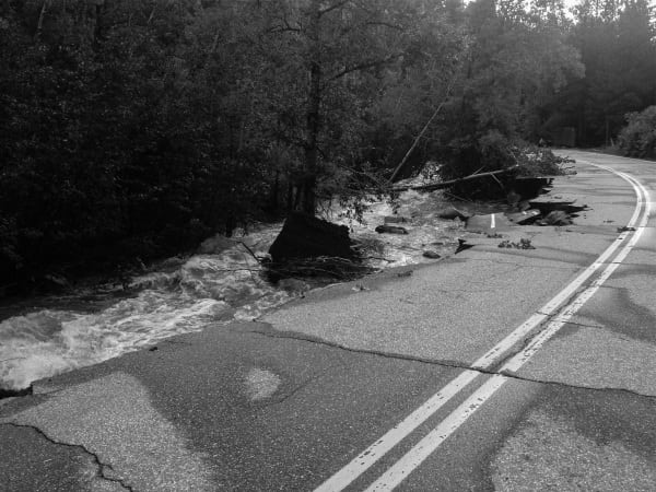 Colorado Front Range - flooding road damage