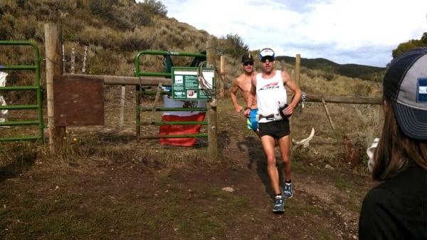 Jason Schlarb - 2013 Run Rabbit Run 100 - Josh Arthur - Cow Creek Aid Station