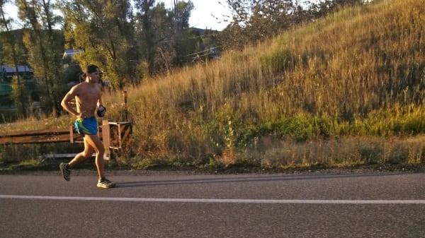 Jason Schlarb - 2013 Run Rabbit Run 100 - Road to Fish Creek