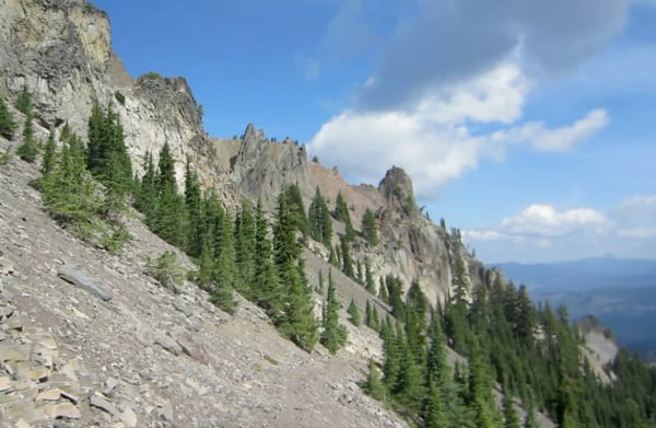 crags