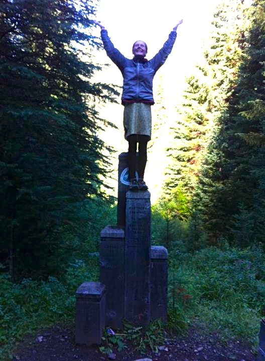 Heather Anderson - Anish - PCT FKT - Canadian Border