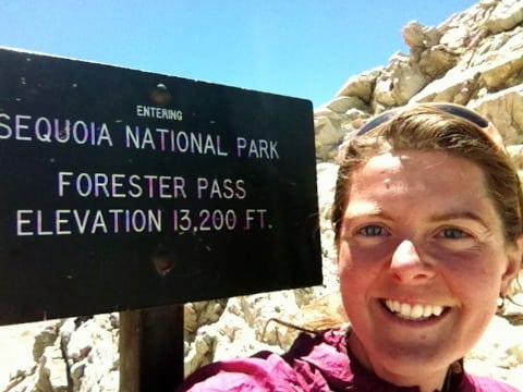 Heather Anderson - Forester Pass - PCT high point