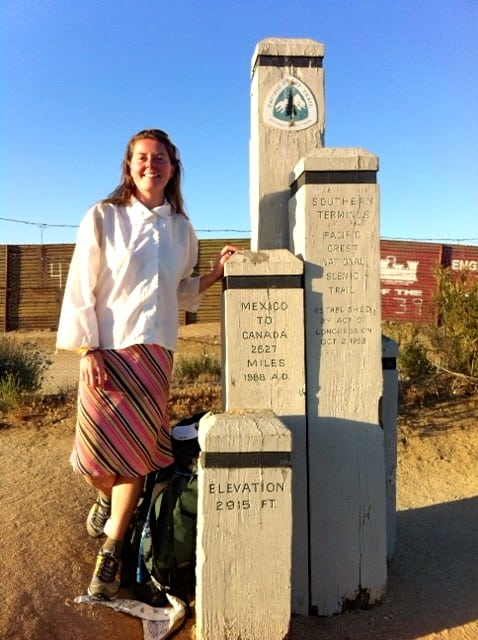 Heather Anderson - Anish - PCT FKT - Mexican border