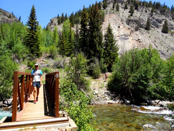 Crossing the bridge right after the Alpline Gulch trailhead