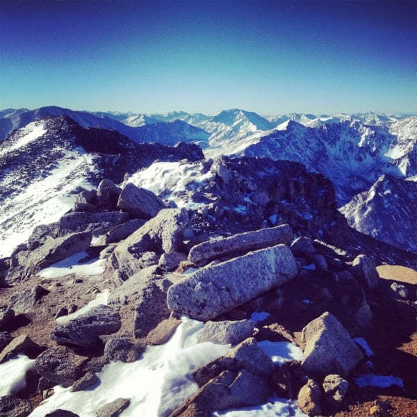 First summit on Ben Clark's Fall 2013 attempt on Nolan's 14