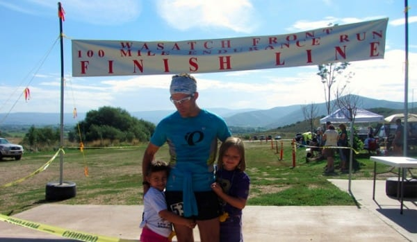 Ryan and daughters, Sierra and Aspen at the Wasatch finish line.