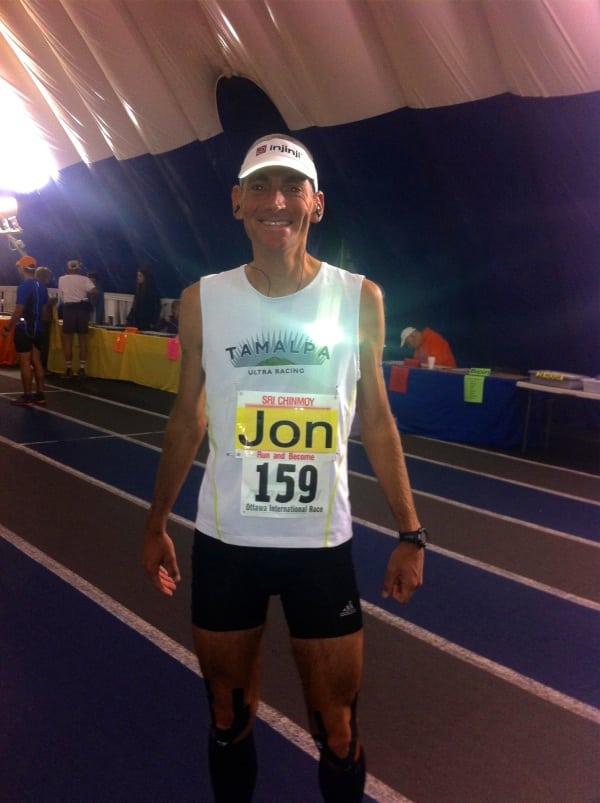 Jon Olsen 100 mile North American record