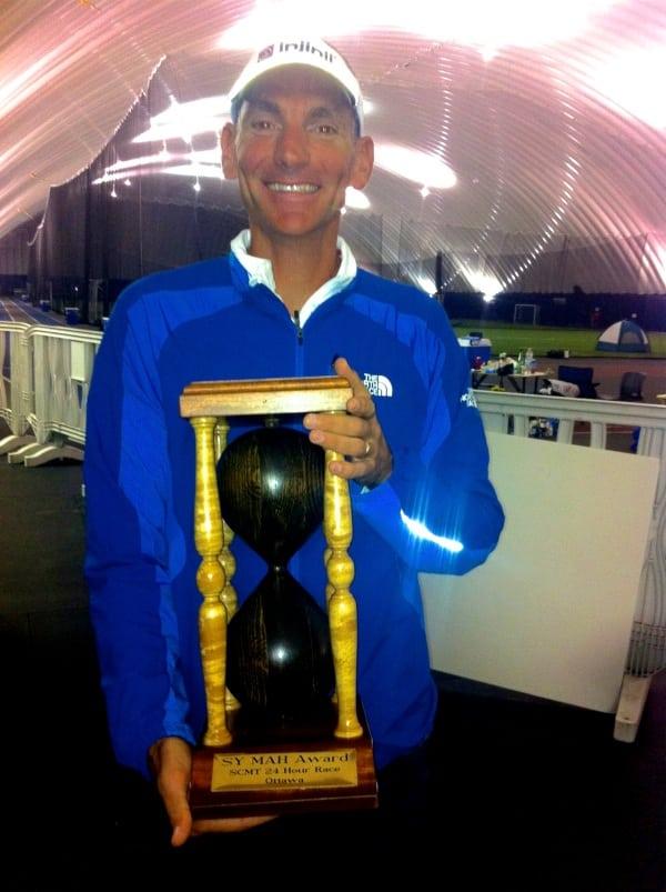 Jon Olsen 100 mile North American record with award