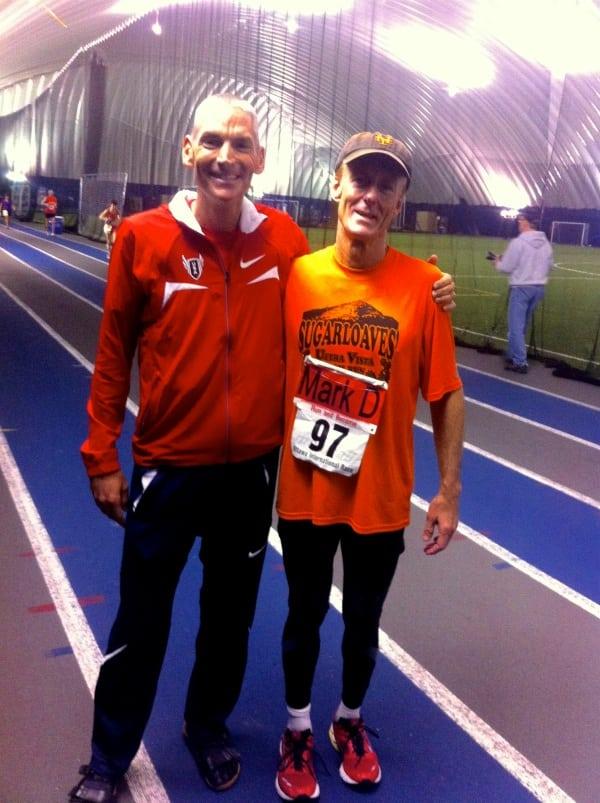 Jon Olsen 100 mile North American record with mentor Mark Dorian