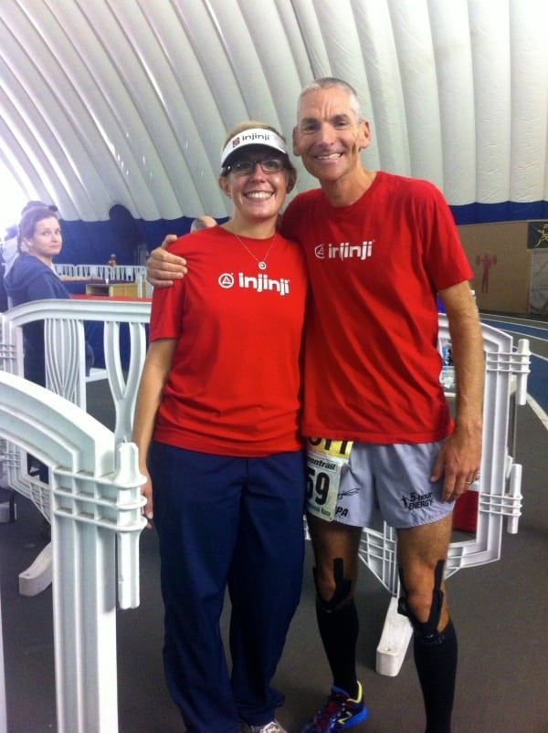 Jon Olsen 100 mile North American record with wife Denise