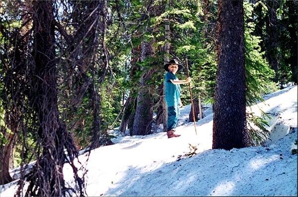Alex Nichols - snowy hike
