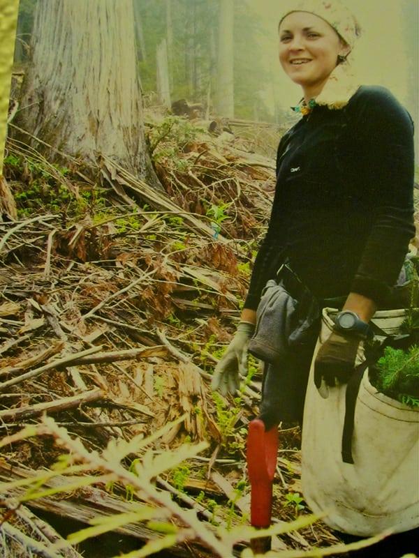 Catrin Jones - planting trees