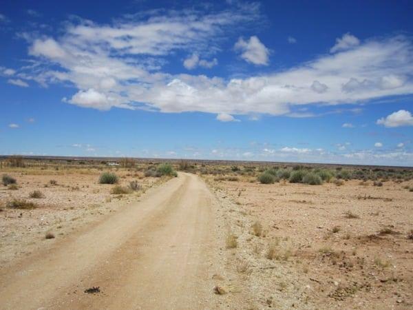 Daniel_Rowland_KAEM13_Stage_3_1 - Typicall dirt park roads and Kalahari landscape