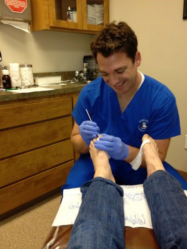 Pam Smith - toenail surgery prep