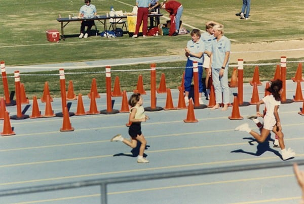 Sally McRae racing at age 7