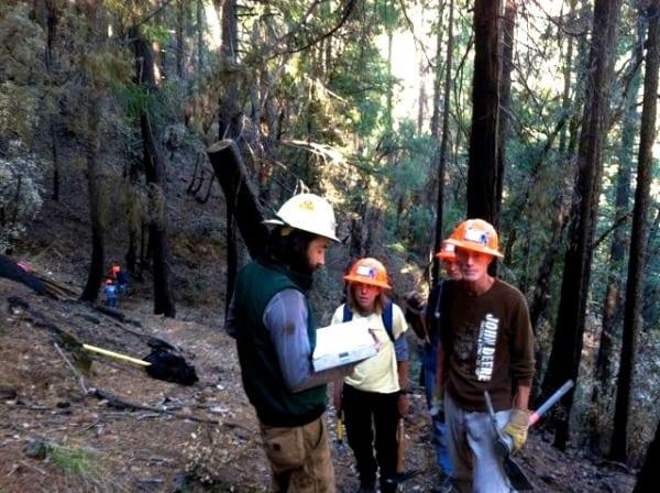 Ann Trason - Trail Work Devils Thumb 2013