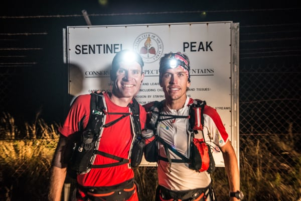 Ryan Sandes-Ryno Griesel-Grand Drakensberg Traverse-Start at Sentinel Peak