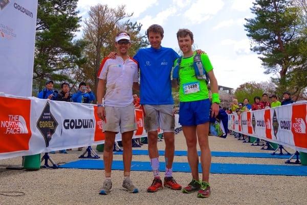 Ryan Sandes - François D'haene - Mike Foote - 2014 Ultra-Trail Mount Fuji