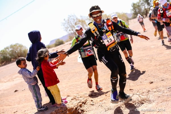 2014 Marathon des Sables - Karim Mosta and kids
