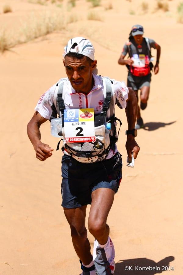 2014 Marathon des Sables - Rachid El Morabity and Mohamad Ahansal Stage 1