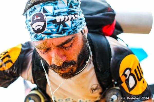 2014 Marathon des Sables - runner at finish line