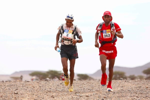 Rachid El Morabity and Salameh AL Aqra - 2014 Marathon des Sables Stage 5