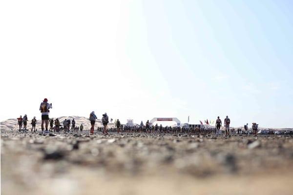 2014 Marathon des Sables - about to start