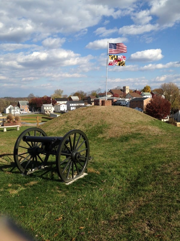 Williamsport from the Doubleday Hill Monument in downtown