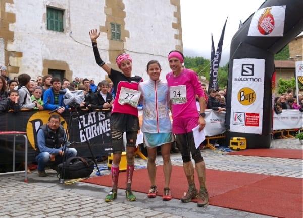 Stevie Kremer - Elisa Desco - Maite Mayora - 2014 Zegama Marathon women's podium