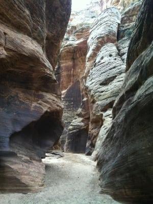 Narrow Utah canyon