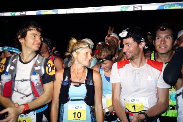 2014 Transvulcania Ultramarathon start line - Kilian Jornet, Anna Frost, Emelie Forsberg, Emma Roca