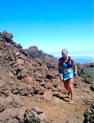 2014 Transvulcania Ultramarathon - Anna Frost at Roque de los Muchachos
