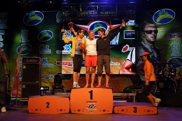 2014 Transvulcania women's podium