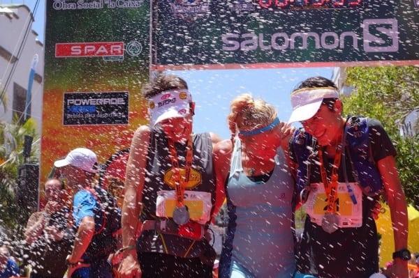 Women's podium - 2014 Transvulcania Ultramarathon