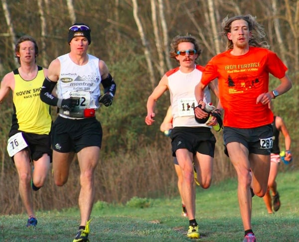 2014 Ice Age 50 Mile early lead pack