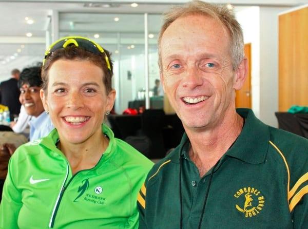 Ellie Greenwood and Bruce Fordyce