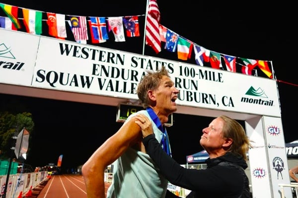 AJW and Shelly at the 2014 Western States finish