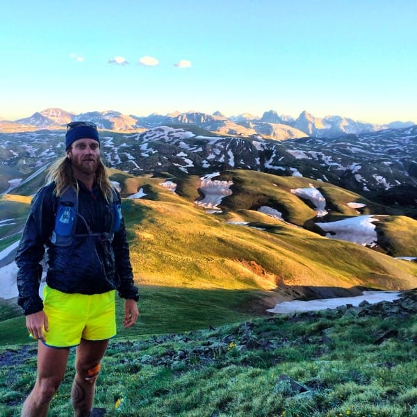 Timothy Olson on the Hardrock 100 course