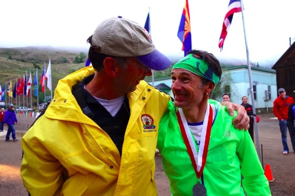 Dale Garland and Seb Chaigneau after the 2013 Hardrock 100