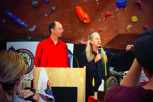 Dale Garland and Lois MacKenzie at the 2013 Hardrock 100 award ceremony