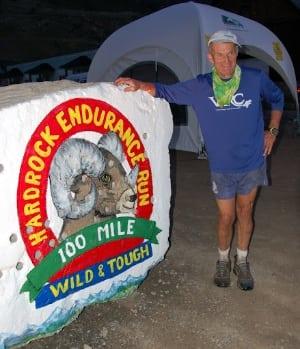 John DeWalt finishing his 11th Hardrock 100 in 2005