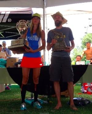 Stephanie Howe and Rob Krar - 2014 Western States 100 Champions