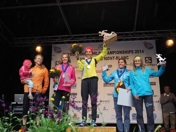 2014 Skyrunning World Championships - Mont-Blanc Marathon women's podium