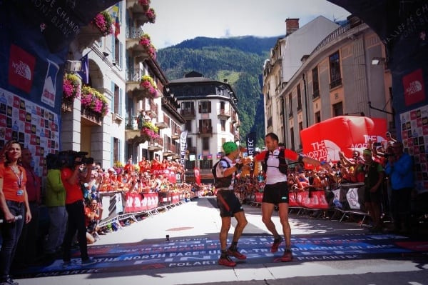 Tofol Castanyer and Iker Karrera, second place 2014 The North Face Ultra-Trail du Mont Blanc