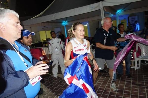 Jo Zakrzewski - 2014 IAU 100k World Championships third place