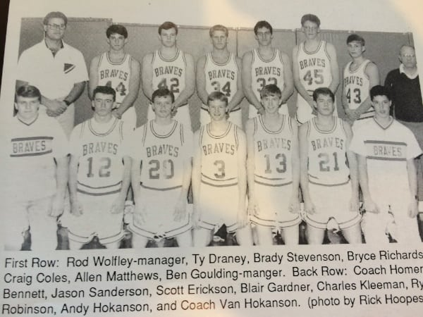 Ty Draney - 1992 Wyoming State Champs basketball