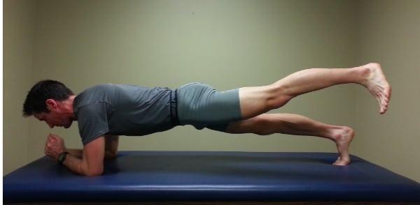Low Back Pain - Plank Plus Leg Extension