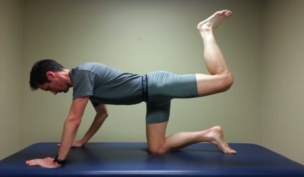 Low Back Pain - All Fours Bent Knee Leg Extension