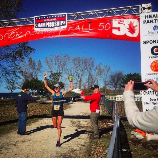Larisa Dannis - 2014 USATF 50-Mile Road National Champion