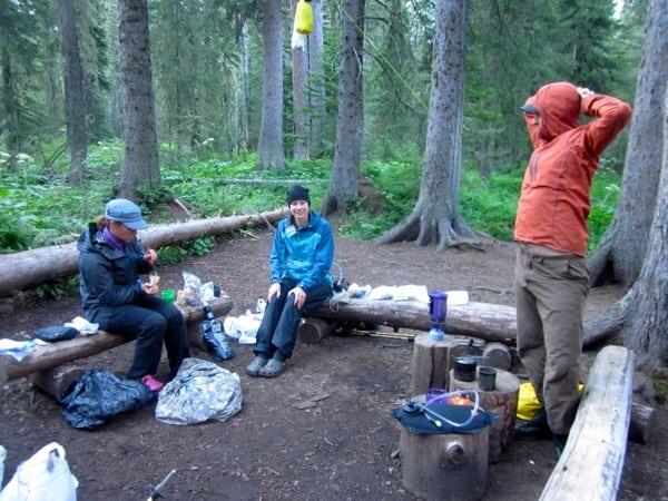 Established Campsite Glacier National Park